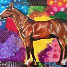 'HORSE IN AN ABSTRACT LANDSCAPE'  by Jerry Kirk