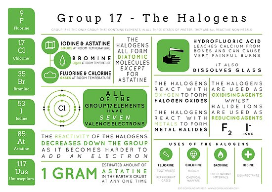 Element Infographics: The Halogens by Compound Interest