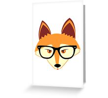 Red Fox with Glasses Greeting Card