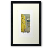 yellow tower 1 Framed Print