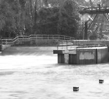 Teston Lock and weir. by 580andrewh