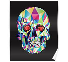 Geometric Skull Candy Poster