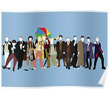 All Thirteen! (Version 3) - Doctor Who Poster