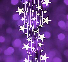 Happy Birthday To You - purple sparkle by MrsTreefrog