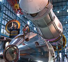 Apollo Command Module Saturn V Rocket by David Lamb