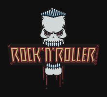 Rock 'N' Roller Skull by MrFaulbaum