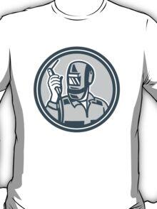 Welder Fabricator Holding Welding Torch Retro T-Shirt