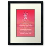 Affirmation - Reflection Framed Print