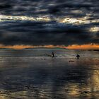 3 Surfers by Stephen Burke