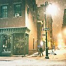 Greenwich Village on a Winter Night - New York City by Vivienne Gucwa
