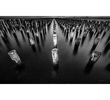 Princes Pier Pylons Photographic Print