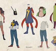 Ms Kamala Paper Doll by RyanIncandenza
