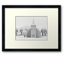 the lonely church Framed Print