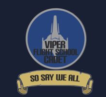 'Viper flight school cadet' design inspired by Battlestar Galactica by hypergeekstuff