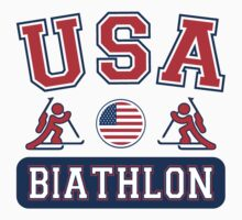 USA Biathlon Team Sochi Olympics T Shirt by xdurango