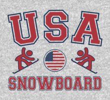 USA Snowboard Team Sochi Olympics T-Shirt by xdurango