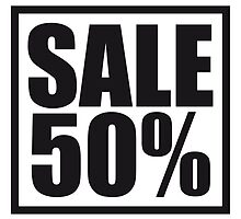 Sale sale reduced 50 percent by Style-O-Mat
