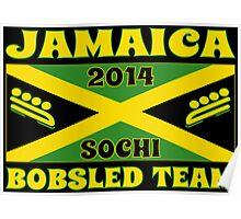 2014 Jamaican Bobsled Team Sochi Olympics T Shirt Poster