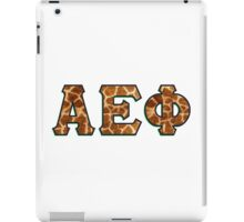 Alpha Epsilon Phi Giraffe Pattern iPad Case/Skin