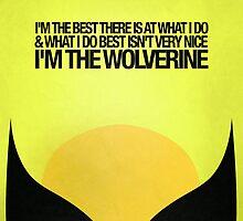 Wolverine Minimalist Poster by hopealittle