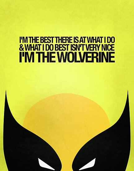 Wolverine Minimalist Poster by hopealittle