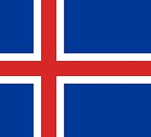 Flag of Iceland by TilenHrovatic
