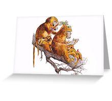monkey habits Greeting Card