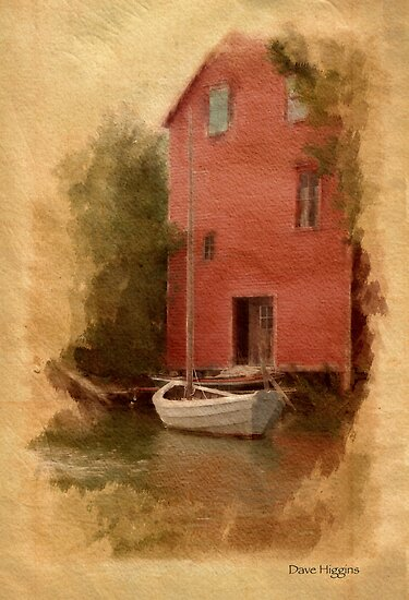 Sailing Dory, Georgetown, Maine by Dave  Higgins