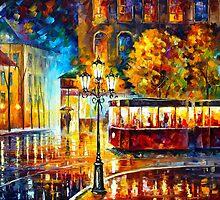 NIGHT TROLLEY by Leonid  Afremov