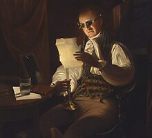 Man Reading by Candlelight by Bridgeman Art Library