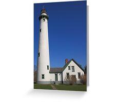 Lighthouse - Presque Isle, Michigan Greeting Card