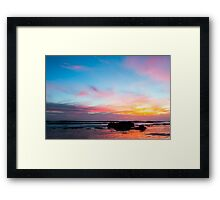 Sunset Handry's Beach Framed Print