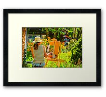 Art in the Garden Framed Print