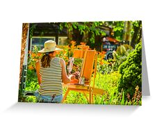 Art in the Garden Greeting Card