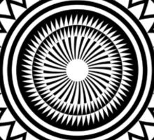 Monochromatic Power Circle Sticker