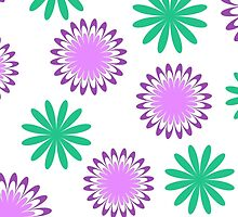 Green purple floral pattern by cycreation