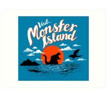 Monster Island Art Print