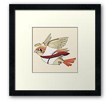 aaabaaajss - Bird Jesus Framed Print