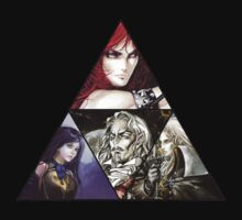 Castlevania Triforce (Alucard, Shanoa, Simon Belmont and Shanoa) T-Shirt