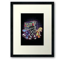 Old Skool 80s Cartoon B Boys (and girl) Framed Print