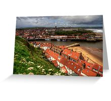 Whitby from the East Cliff Greeting Card