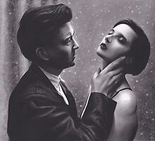 David Lynch and Isabella Rossellini by brittnideweese