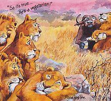 vegetarian lion by RoseRigden