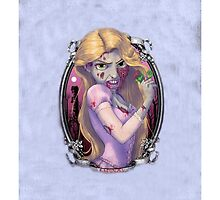 Disney Tangled Rapunzel Zombie by N1K0VE