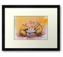 Romantic Anteater Framed Print