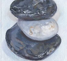 THREE PEBBLES III by Tracy Sheffield