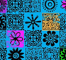 Block Print Floral Pattern by ArtVixen