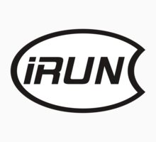 iRun Oval Overlap Sticker by dcroffe