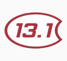 iRun 13.1 Oval Overlap Sticker by dcroffe