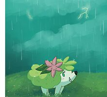 Stormy Day Shaymin by AlliSunArt